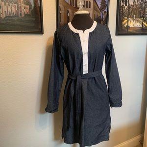 Kayce Hughes Denim/Chambray Long Sleeve Dress SZ 4